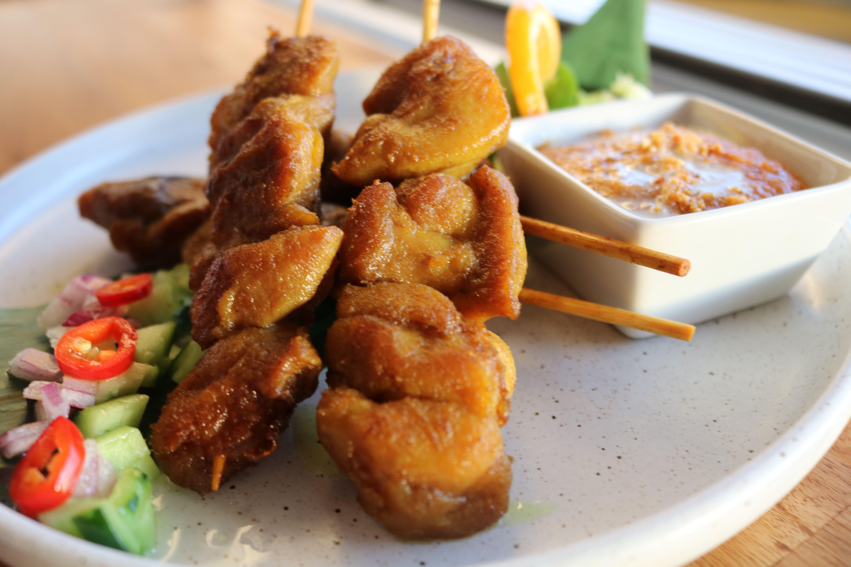 Satay chicken (4 skewers)