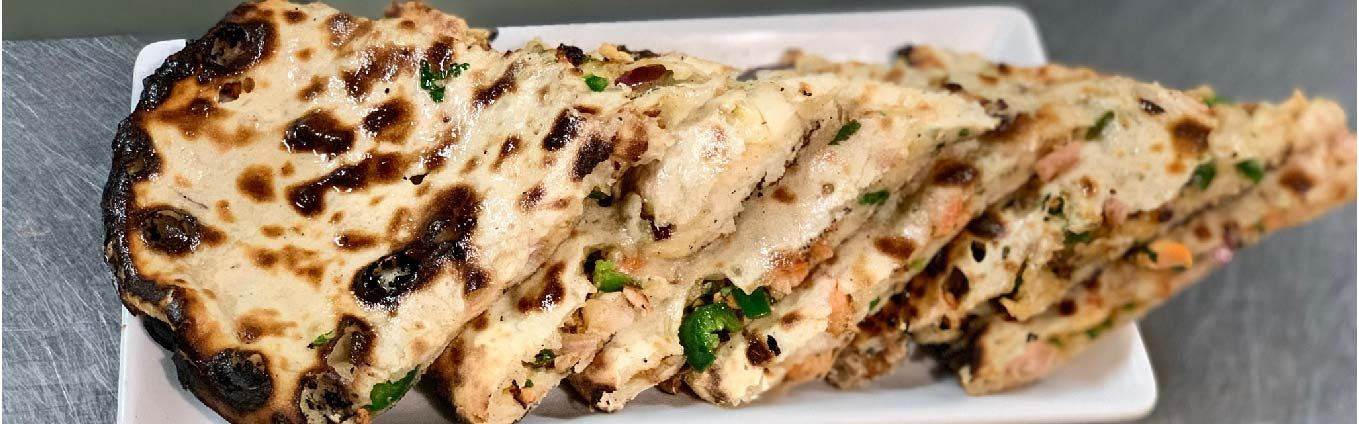 Chilli, Olive and Onion Naan