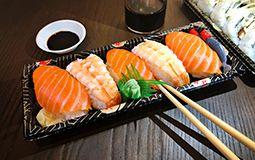 Prawn and Salmon Nigiri Pack (GF) - 5 Pieces