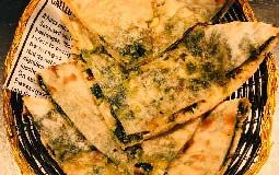 Spinach and Cheese Naan