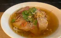 Red Pork Noodles Soup