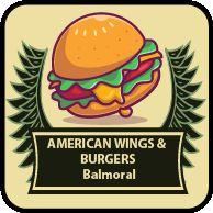 American wings and burgers balmoral